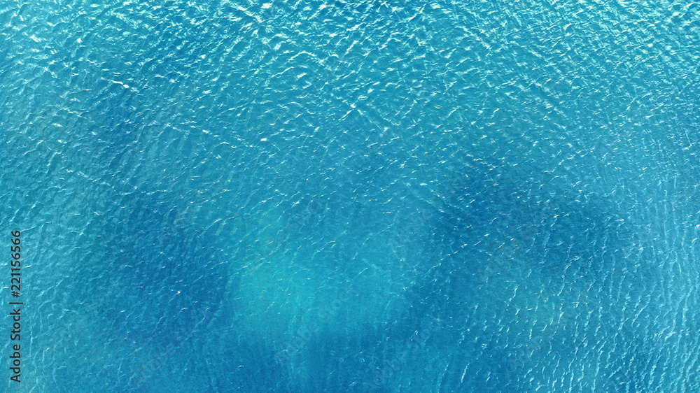 Fototapety, obrazy: Aerial. Blue water background texture.