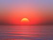 Beautiful sea and sky at sunset