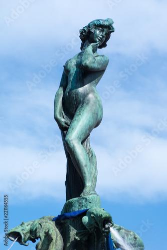 Photo The statue on the fountain Havis Amanda in the Park Esplanade