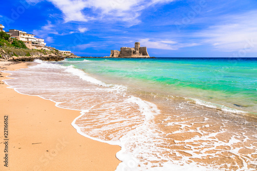 Le Castella .Isola di Capo Rizzuto - beaches and castles of Calabria, Italy