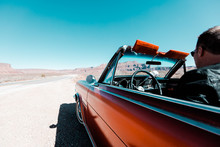A Road Trip Through The American Southwest In A Classic Convertible Car