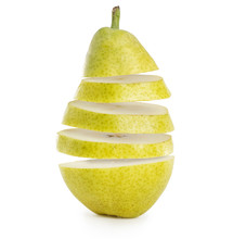 Flying Slices Of Green Pear Is...
