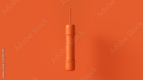 Photo Orange Pipe Bomb Concept 3d illustration 3d render