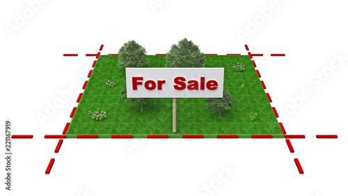 Obraz plot of land for sale - fototapety do salonu