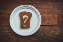 Question Mark Made Of Rye Brea...