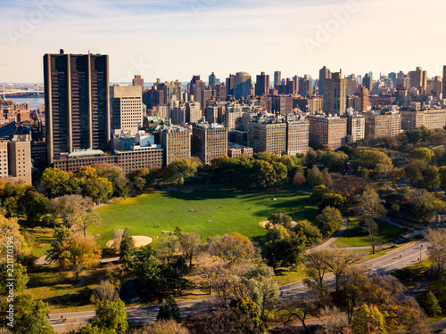 Foto op Aluminium New York City New york autumn landscape in Central park aerial