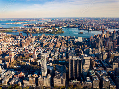Keuken foto achterwand Amerikaanse Plekken Stunning areal view over New York and Manhattan island