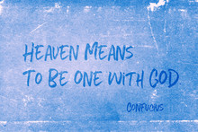 One With God Confucius