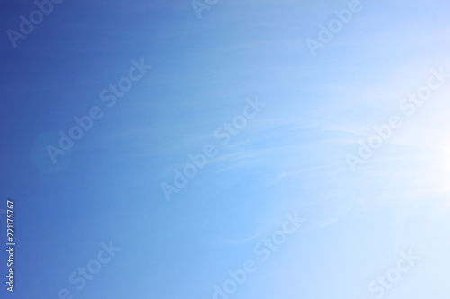 Blue Sky Background Empty Bright Natural Texture Template Of Blue