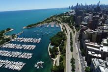 Belmont Harbor Chicago IL Aerial