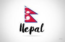 Nepal Country Flag Concept Wit...
