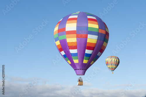 Tuinposter Ballon Globos aerostáticos en Festival de Globos en León Guanajuato