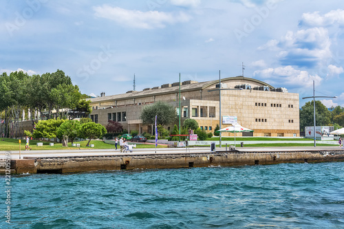 Spoed Foto op Canvas Theater Thessaloniki, Greece - August 16, 2018: National Theatre of Northern Greece, Thessaloniki. Performing Arts Theater (Vasiliko Theatre).