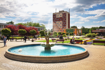 Chopin square in Pulawy. Poland