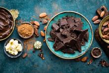 Chocolate. Dark Bitter Chocola...