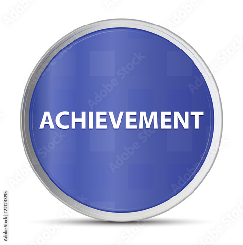 Fotografia  Achievement blue round button