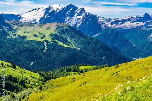 View of beautiful Dolomites mountain