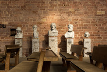 Sculptures Depicting Jesus Christ And The Apostles In The Basilica Constantine In The Center Of Trier