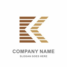 Geometric Square Wood Strips Letter K Architecture Interior Construction Business Company Stock Vector Logo Design Template
