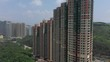 Aerial view footage of Hong Kong Housing