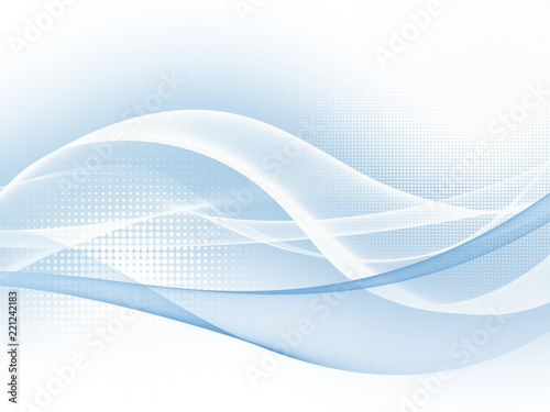 In de dag Abstract wave Soft blue abstract business graphic wave background