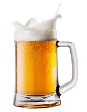 Splash Foam In Mug With Beer