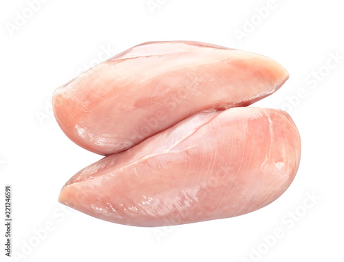 Fotografía Raw chicken fillet on white background
