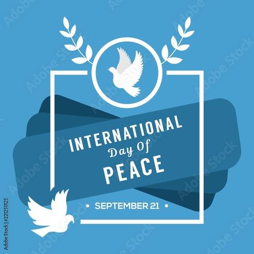 peace day illustration design Fototapete