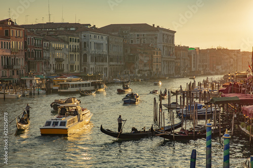 Deurstickers Centraal Europa View from Rialto Bridge in Venice Italy before sunset
