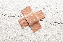 Band-aid Plaster In Cross Shap...