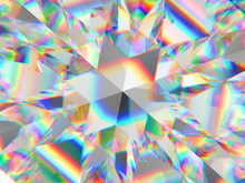 Diamond Structure Extreme Closeup And Kaleidoscope