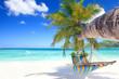 Hängematte am tropischen Strand