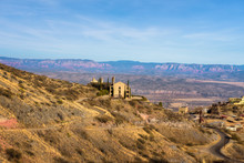 Scenic View Of The Mountain Town Of Jerome In Arizona