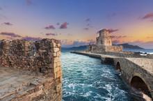 The Methoni Venetian Fortress In The Peloponnese, Messenia, Greece