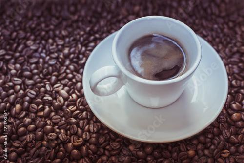 Deurstickers koffiebar beautiful delicious aromatic roasted coffee