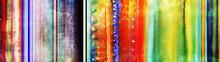 Streifen Aquarell Bunt Banner