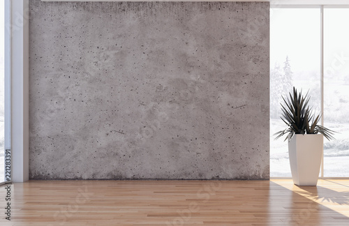 Fototapeta large luxury modern bright interiors apartment Living room illustration 3D rendering computer generated image obraz