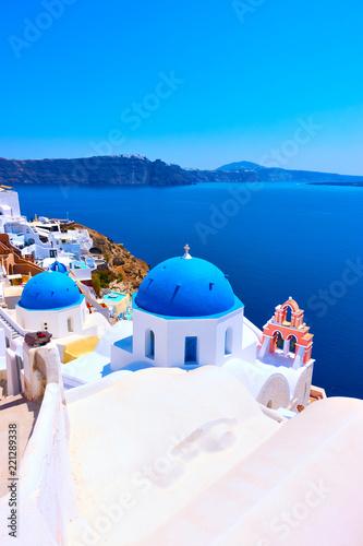 Fototapeta View of Oia in Santorini obraz