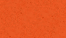 Mechanical Vector Seamless Texture Pattern. Orange. Isolated From The Background. Steampunk