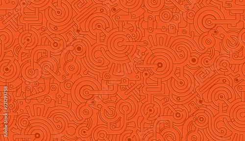 Fotografie, Obraz  Mechanical Vector Seamless Texture Pattern