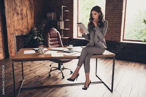 Attractive elegant stylish beautiful classic trendy business sha Fototapeta