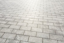 Modern City Square Floor Texture Background,high Angle View