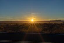 Sunset Oustide Meteor Crater Winslow Arizona