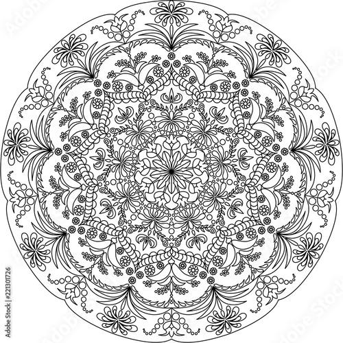 Fotografia Mandala coloring for adult