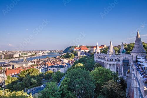 Garden Poster Napels Budapest cityscape, Hungary