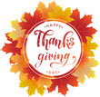 Happy Thanksgiving poster, greeting card, banner design