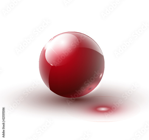 Fotografía  Shiny red ball vector