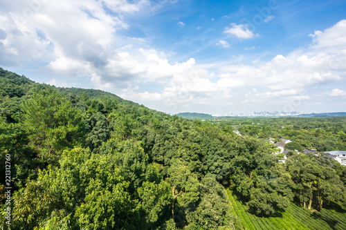 Foto op Canvas Pistache landscape of west lake in hangzhou china