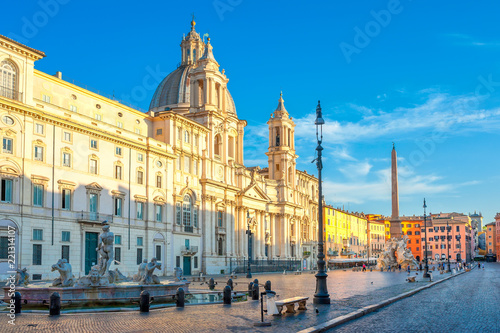 Fototapeta  Piazza Navona at sunrise, Rome. Italy