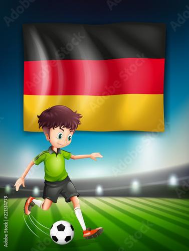 Staande foto Kids A German soccer player